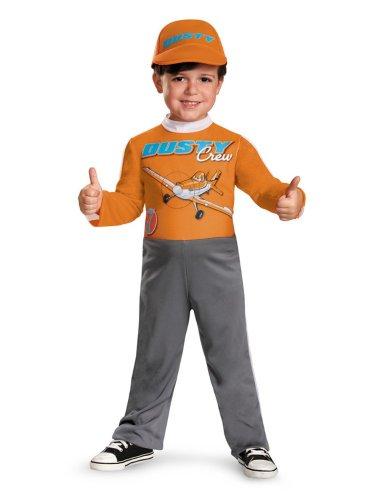 Disney Planes Toddler & Boys Dusty Crophopper Costume & Hat (Dusty Crophopper Costume)
