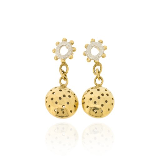 Ana Verdun Jewellery Wheel Studs With Gold-Plated Large Charms