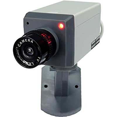 HTS 312A0 Motion Activated Motorized Dummy Security Camera with Swivel Action