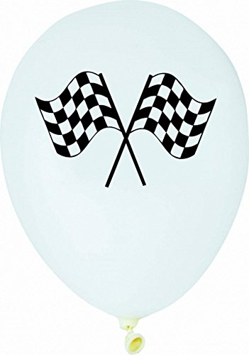 Voiture de course de Ballons en latex (pack de 6)