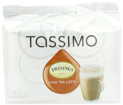 Twinings Chai Tea Latte, 8-Count T-Discs for Tassimo Brewers (Pack of 3)