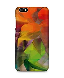 Amez designer printed 3d premium high quality back case cover for Huawei Honor 4X (Abstract Colorful 27)