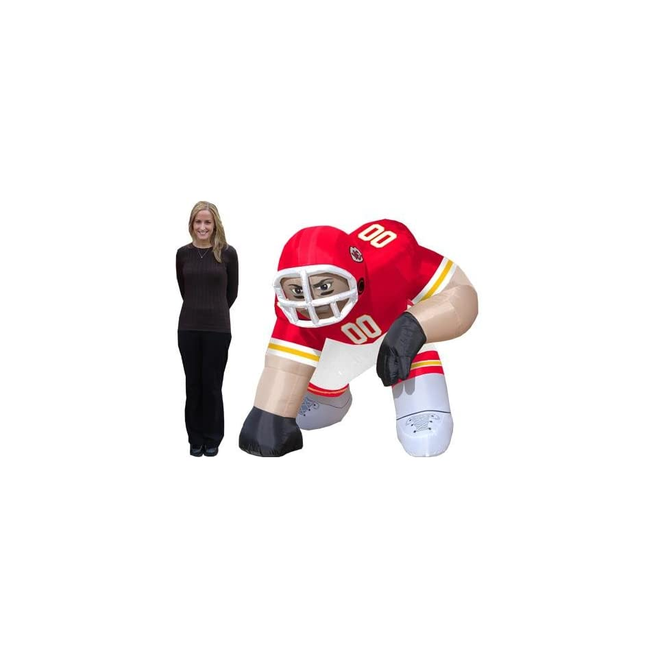 Kansas City Chiefs NFL Air Blown Inflatable Bubba Lawn Figure/Football Player