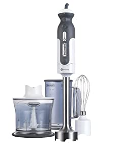 DeLonghi DHB718 380-Watt Tri-Blade 2-Speed Handblender with Whisk