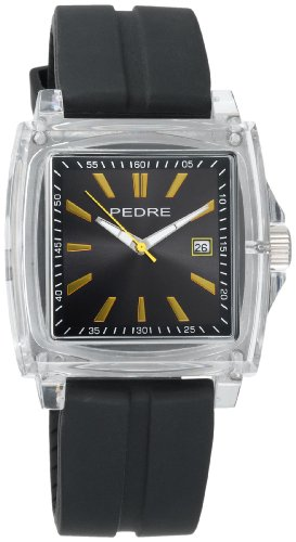 Pedre Men's 0570CGX Sport Clear Plastic Rubber Strap Watch
