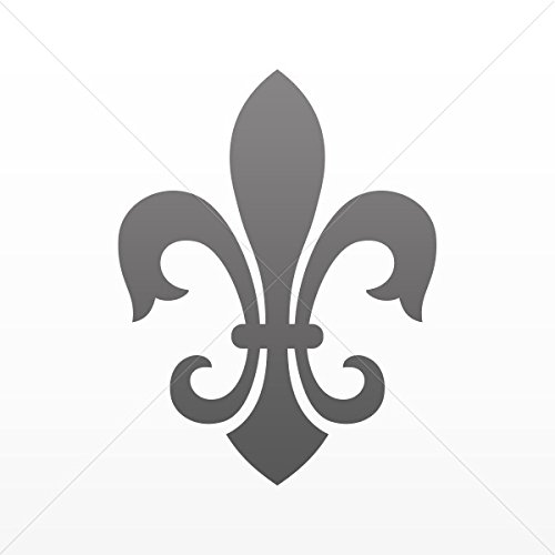 Sticker Fleur De Lis Logo Symbol Tablet Vehicle Weatherproof Garage ca Gray Dark (5 X 3.82 In) (5x7 Drawing Tablet compare prices)
