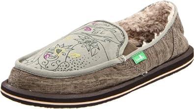 Sanuk Women's Scribble Chill Slip-On Loafer,Grey,5 M US