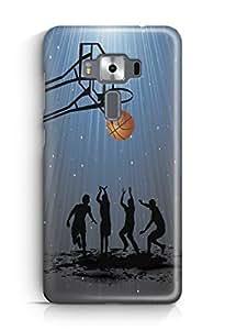 YuBingo Let's Play Basketball Designer Mobile Case Back Cover for Asus Zenfone 3 Deluxe