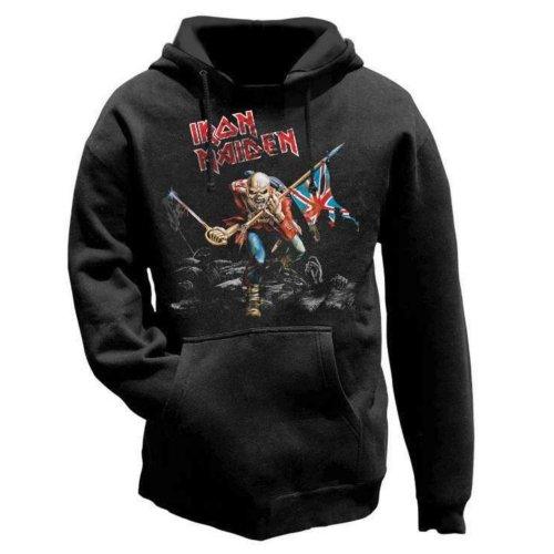 Iron Maiden - The Trooper, Felpa, manica lunga da uomo, Nero (Black), 2XL