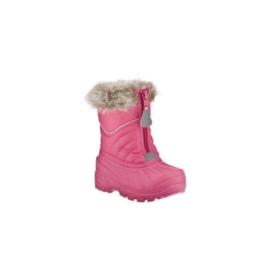 4964f9515 Champion Toddler Girls Pink Snow Boots With Faux Fur Trim Shoes on ...