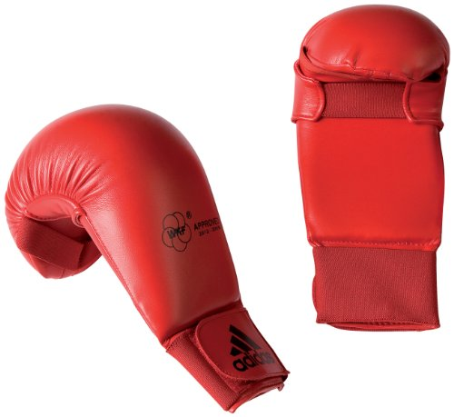 Adidas 611.11 Unisex WKF Karate Mitts - Red, Large