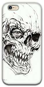 The Racoon Lean printed designer hard back mobile phone case cover for Apple Iphone 6/6s. (Skulls)