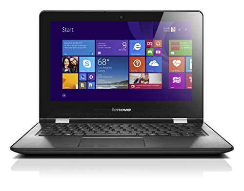 Lenovo YOGA 300-11IBY 29,5 cm (11,6 Zoll HD LED) Convertible Notebook (Intel Celeron N2940 Quad-Core Prozessor, 2,25GHz, 2GB RAM, 32GB eMMC, Intel HD Grafik, Touchscreen, Windows 10 Home) schwarz