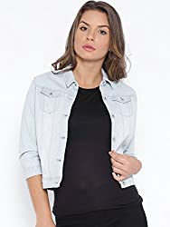 Kraus Jeans Women's Cotton Parka Jacket (LJ-100_Light Blue_ M)