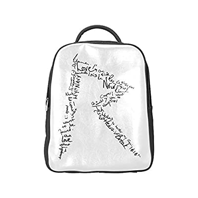 DOROT Famous Female Singer Rihanna Logo Unisex School High-grade PU Leather Backpack Bag Shoulder Bag