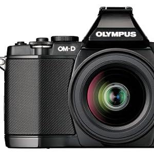 OLYMPUS ミラーレス一眼 OM-D E-M5 レンズキット ブラック 1605万画素 防塵 防滴 OM-D E-M5 LKIT BLK