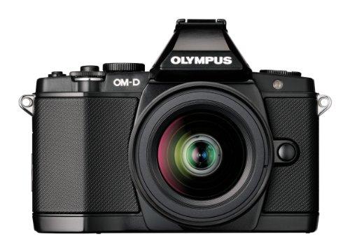 OLYMPUS デジタルマイクロ一眼カメラ OM-D E-M5 レンズキット ブラック 1605万画素 144万ドット電子ビューファインダー 5軸対応手ぶれ補正 防塵 防滴 OM-D E-M5 LKIT BLK