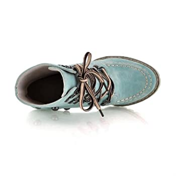 Charm Foot Fashoin Studded Womens Chunky Heel Martin Boots High Top Boots