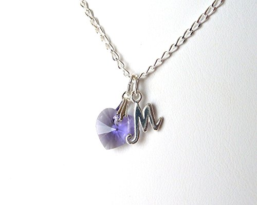 girls-initial-necklace-sterling-silver-with-grow-chain-extender-choose-crystal-color-and-charm-perso