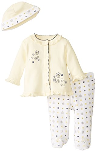 Little Me Baby-Girls Newborn Bumble Bee Take Me Home Set