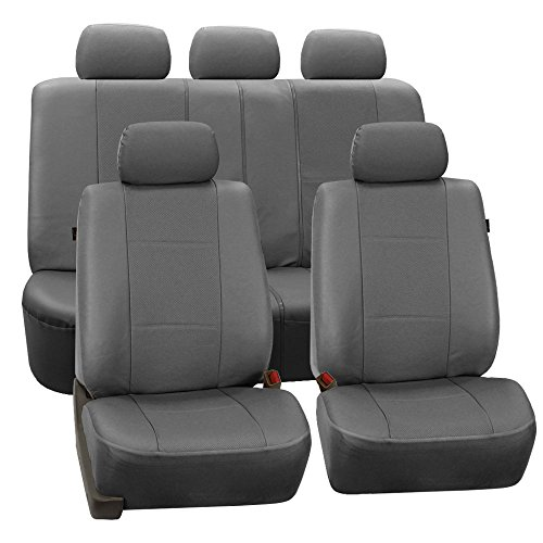 fh-group-universal-fit-full-set-deluxe-seat-cover-leatherette-gray-airbag-compatible-and-rear-split-