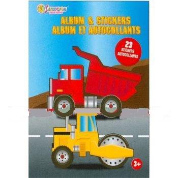 Construction Trucks Mini Sticker Album & Stickers