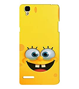 EPICCASE Minion Yellow Mobile Back Case Cover For Oppo F1 (Designer Case)