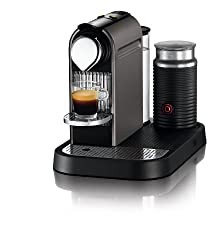 Nespresso Citiz C120 Espresso Maker with Aeroccino Milk Frother, Titanium made by Nespresso