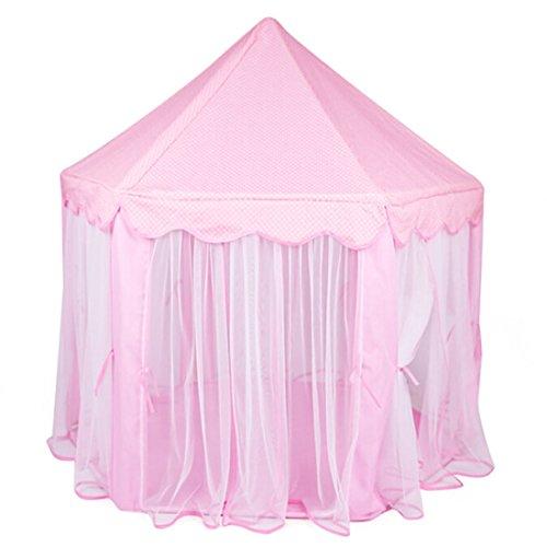 beautylife66-kids-chiffon-play-tent-prince-princess-children-play-house-pink