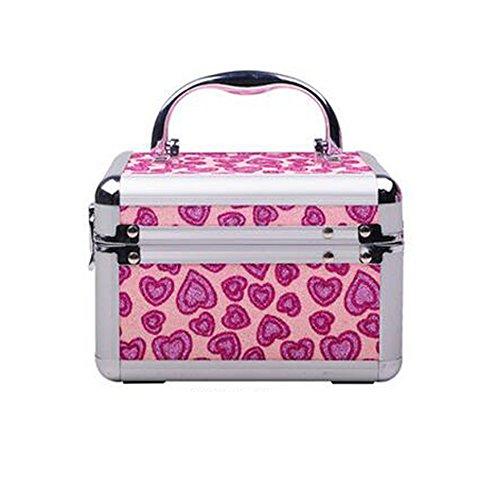 Alluminio in lega stoccaggio cosmetici Bag Desktop Creatività cosmetici signore di grande capienza Piccola Piazza del pacchetto semplice ( colore : A )