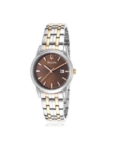 Bulova Women's BUL-98M115 Silver-Tone/Brown Stainless Steel Watch