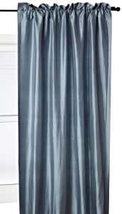 Beacon Looms Majesty 100-Percent Silk 42-Inch by 84-Inch Window Panel, Lined, Blue