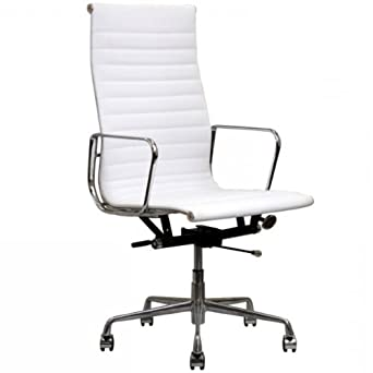 Designer Modern Togo Ribbed High Back Leather Conference Office C