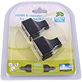 SNDIA (100 Ft 30m) HDMI To Dual RJ45 Port Network Cable Extender - HDMI Extender Repeater-(1080p) For PS3 HD-DVD...