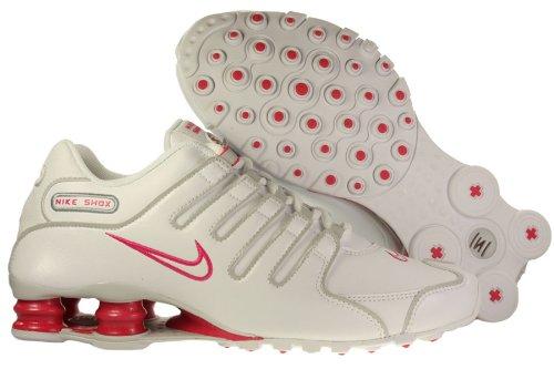 pretty nice 7a576 f00ab Womens Nike Shox NZ SL Leather Running Shoes White / Neutral ...