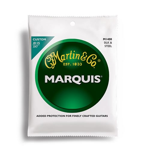 Martin M1400 Marquis Silk & Steel Acoustic Strings (Cf Martin Strings compare prices)