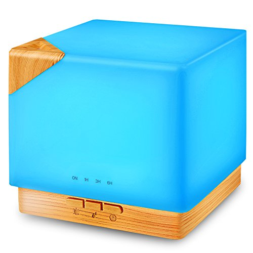 Square Aromatherapy 700ml Essential Oil Diffuser Humidifier