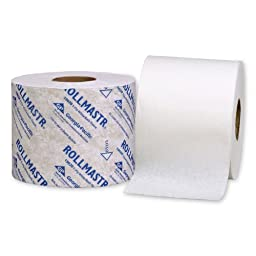 RollMastr 19020 White 1-Ply High Capacity Bathroom Tissue, 4.050\