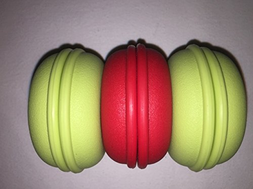 """Cableorganizer.Com, Cable Turtle Small Kit, Material: Flexible Plastic, Color: 1 - Red & 2 - Green, Dimensions: 2.5"""" Diameter X 1.25"""" H, Qty: 1 Bag (2 Green & 1 Red Per Bag)"""