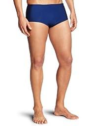 Speedo Men\'s Xtra Life Lycra Solid 5 Inch Brief Swimsuit, Navy, 32