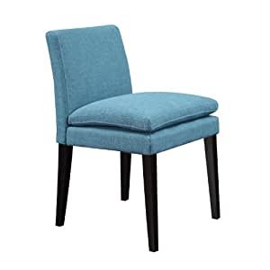 Handy Living Oslo Dining Chair Set In Blue Linen Chairs