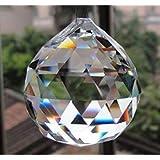 Large Crystal Ball Prism Pendant Suncatcher 40mm (Color: Prism, Tamaño: 40mm)
