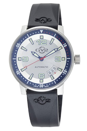 GV2 by Gevril Men's 4010R Stadium Automatic Stainless Steel Rubber Strap Watch