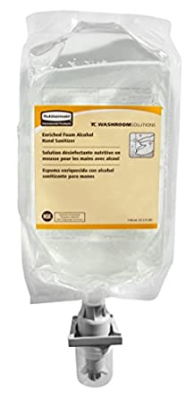 Rubbermaid Commercial FG750591 Enriched Foam Alcohol E3 Hand Sanitizer, Clear