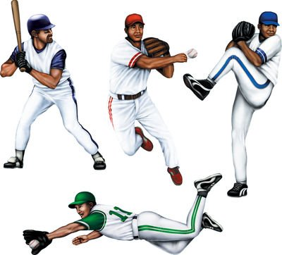 Beistle 4-Pack Baseball Cutouts, 20-Inch