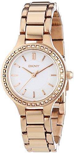 DKNY NY2222 - Orologio da polso da donna, cinturino in rivestito in acciaio inox colore rosa