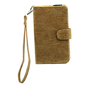 J Cover A9 Classic Leather Carry Case Cover Pouch Wallet Case For Blu Vivo 5R Light Brown