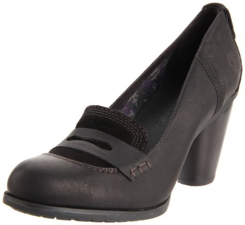 Timberland Women's Nevali Penny Loafer Pump,Black,9 M US