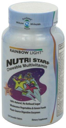 凑单品:Rainbow Light 润泊莱 Nutri Stars 儿童维生素咀嚼片 120粒 $11.3图片