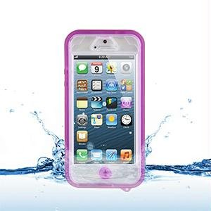 Best Price NAZTECH PINK CLEAR VAULT WATERPROOF HARD TPU CASE COVER FOR APPLE iPHONE 5
